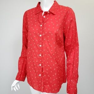 J Crew Perfect Shirt Anchor Horseshoe Print